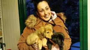 valentina e i 2 cuccioli
